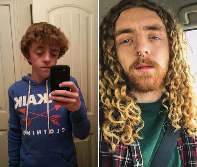 20 Impactantes imágenes de personas que muestran su vertiginosa transformación 6 años después