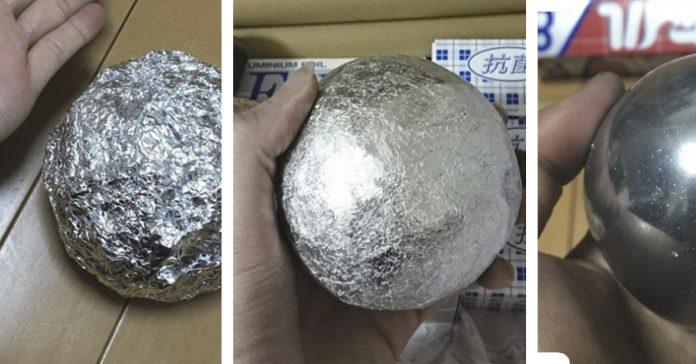 japoneses puliendo bolas aluminio perfeccion banner