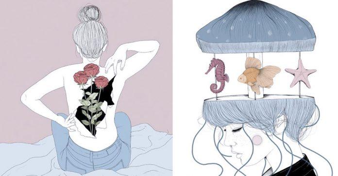 las ilustraciones de pietro tenuta un maniaco del amor banner