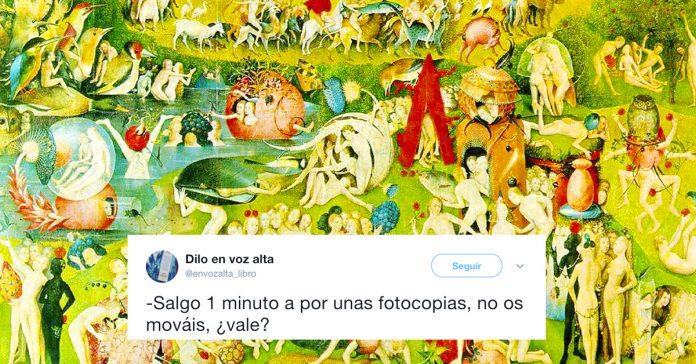 el drama de ser maestro retratado en las pinturas clasicas y en twitter banner