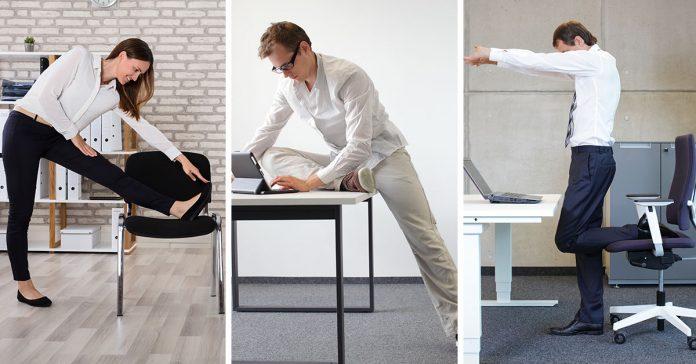 8 ejercicios para mantener el cuerpo activo en la oficina banner