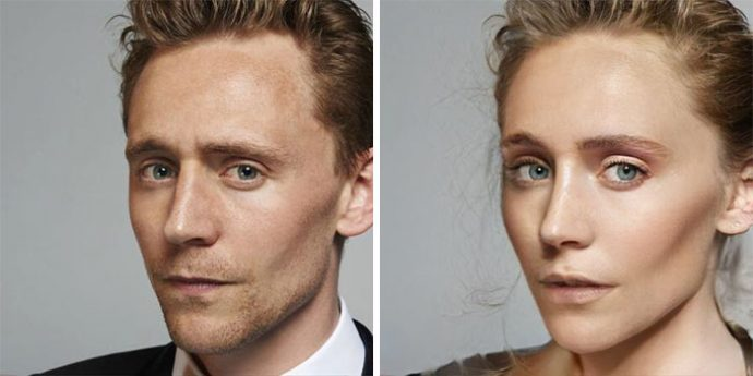 22 Imágenes del antes y después de famosos actores de Marvel que Internet ha transformado en mujeres