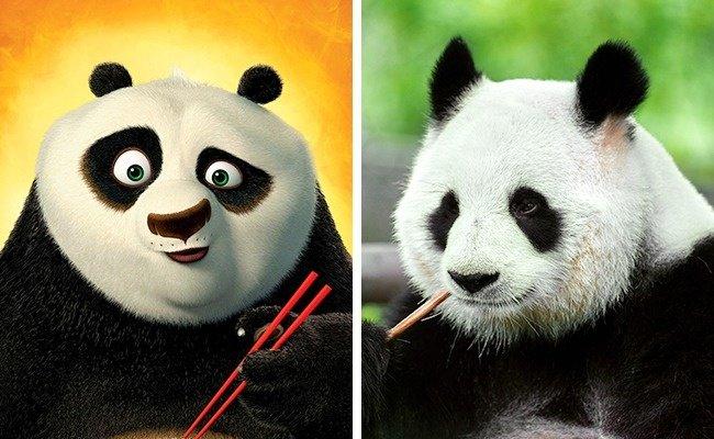 14 Imágenes de animales que copiaron las escenas más famosas de los personajes de animación de películas