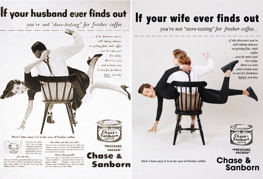 9 Imágenes del artista se ha ganado los aplausos por cambiar a las mujeres y hombres en los anuncios de los 50