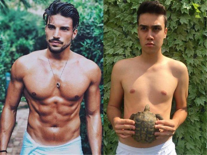 20 Imágenes del chico italiano que triunfa al imitar a los famosos y sus vestidos imposibles con cosas que tiene en casa