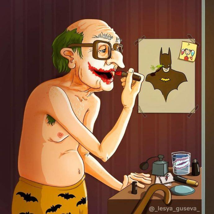 15 Imágenes que muestran a los personajes más famosos de dibujos animados como si hubiesen envejecido