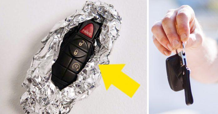 envolver tu llave del coche en papel de aluminio puede ser lo mas inteligente que hagas hoy banner