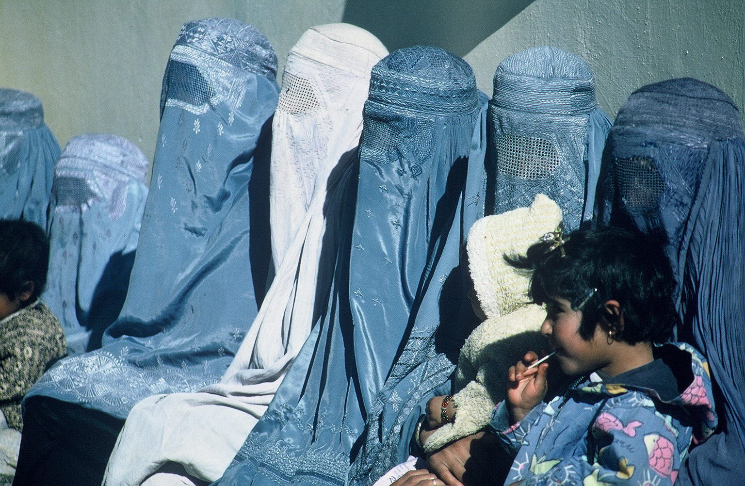 group of women wearing burkas