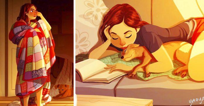 las ilustraciones de la chica solitaria que te dejaran sin aliento banner