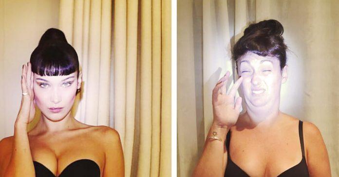 mujer fotos imitando famosas banner