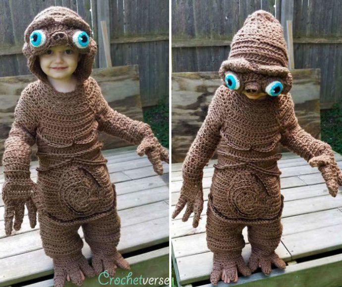 9 Disfraces de ganchillo diseñados para pequeños con los que tener niños podría ser más terrorífico