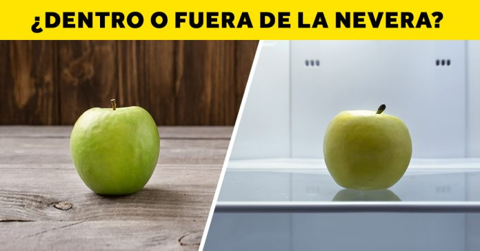 la fruta dentro o fuera de la nevera banner
