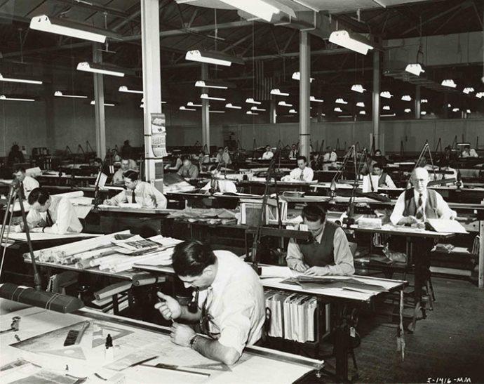 15 Imágenes antiguas que muestran cómo trabajaban los arquitectos antes de tener ordenadores en el trabajo