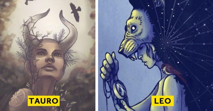 ilustradora ha creado zodiacos diosas banner