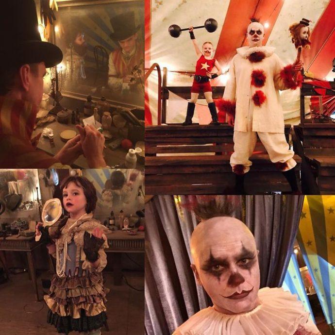 18 Imágenes que muestran el ingenio de Neil Patrick para disfrazar a su familia y convertirse en los reyes de la fiesta