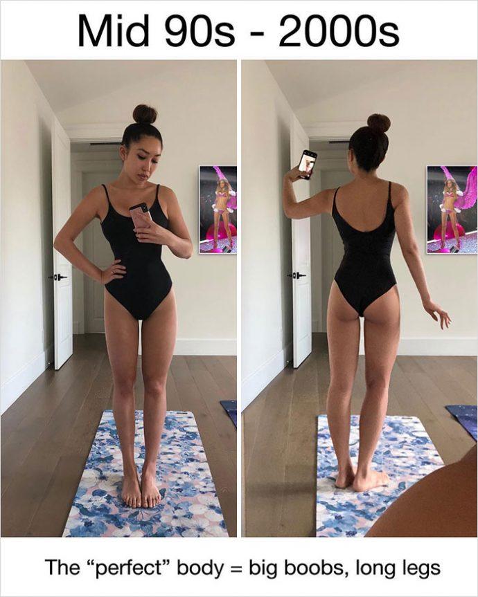 6 Imágenes de la mujer que muestra cómo habría sido su cuerpo perfecto a lo largo de la historia