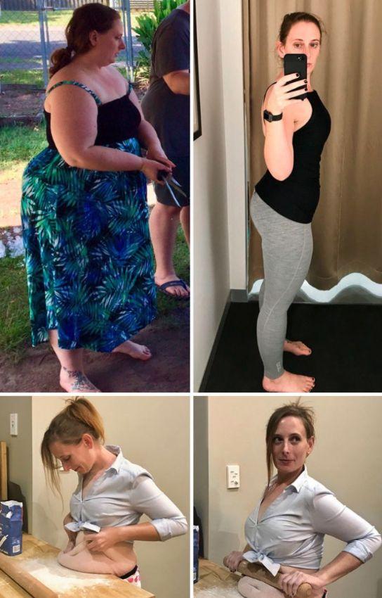 20 Imágenes de personas que consiguieron transformarse perdiendo más de 40 kg