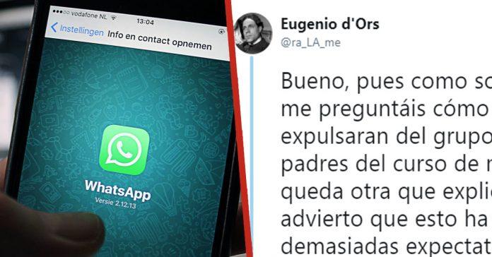un tuitero cuenta la loca historia de como le echaron del grupo de whatsapp del colegio de su hija banner