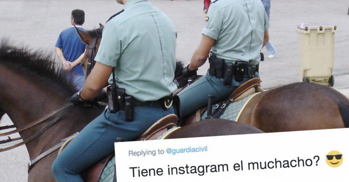el agente buenorro que la guardia civil ha compartido con el que las redes se dejarian multar banner