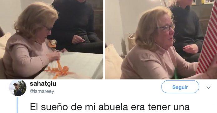 esta abuela recibe un regalo con el que sonaba desde nina y su reaccion no tiene precio