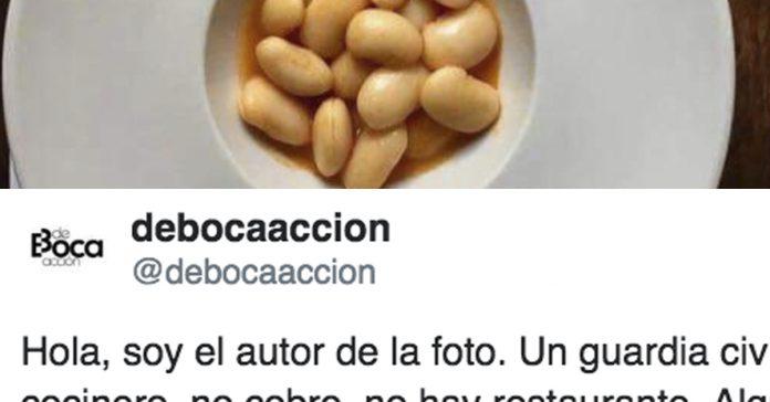 un plato de fabada crea polemica en twitter por este motivo.banner