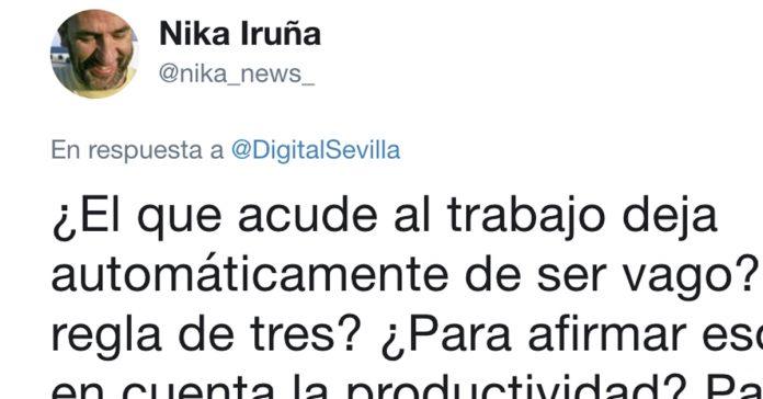 un andaluz se burla de un hombre que acuso de vagos a los trabajadores del sur banner