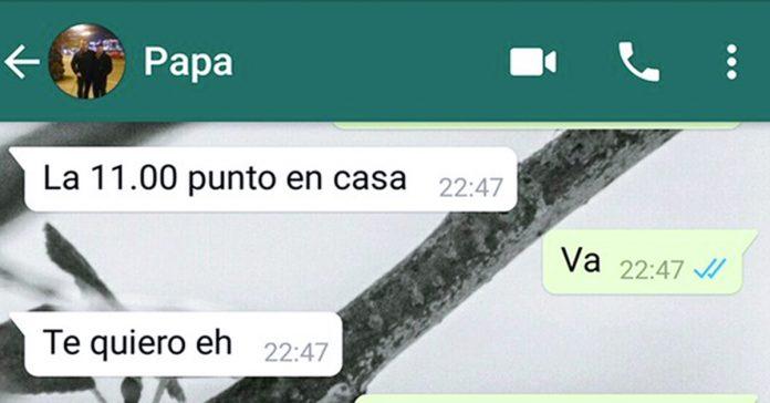 un padre se la juega a su hija al decirle te quiero en una conversacion de whatsapp banner