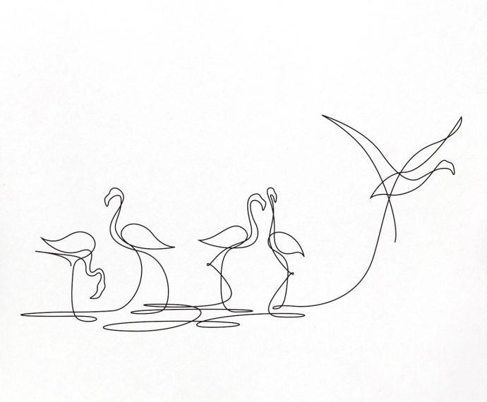 20 Imágenes que muestran el poder de una línea sin levantar el lápiz del papel